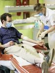 Ablauf der Blutspende während Covid19